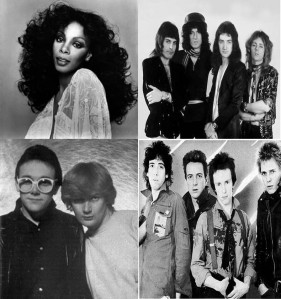 Donna Summer, Queen, The Buggles y The Clash